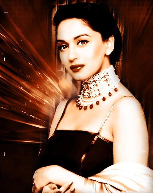 Madhuri Dixit Sizzling Hot Sexy Look Wallpaper