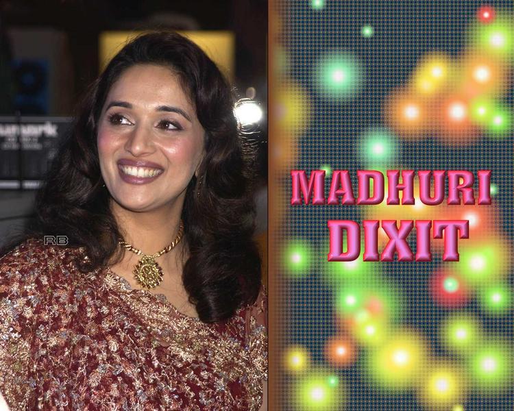 Smiling Beauty Madhuri Dixit Wallpaper