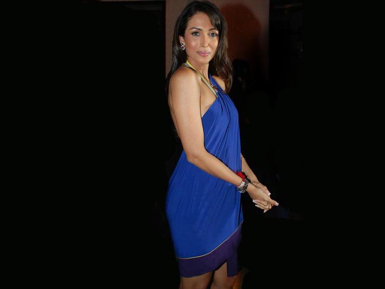 Malaika Arora Blue Dress Hot Wallpaper