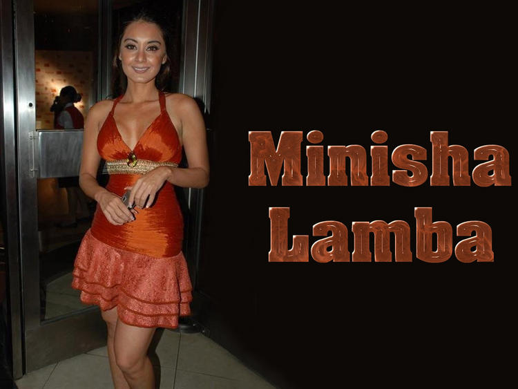 Minisha Lamba Cute Dress Wallpaper