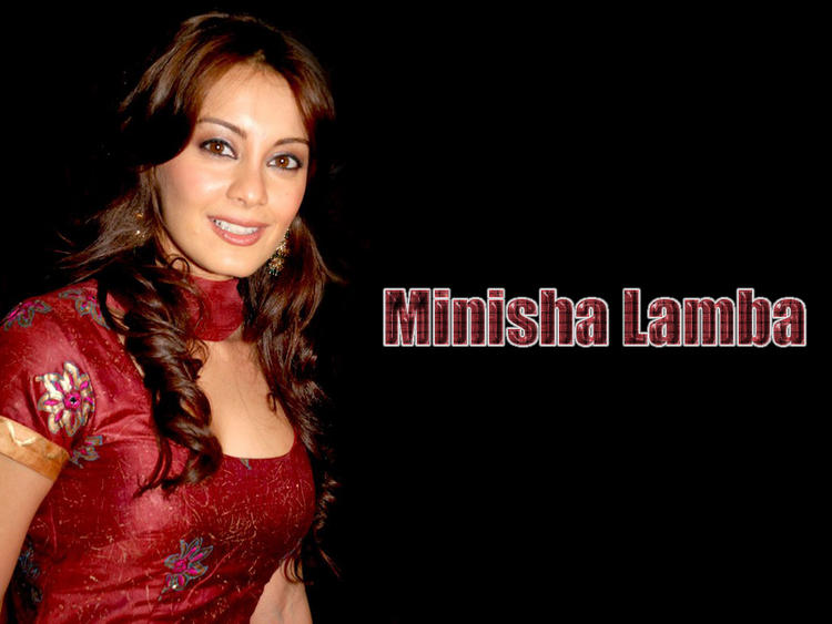 Minisha Lamba Nice Face Look Wallpaper