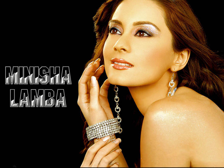 Minisha Lamba Romantic Face Wallpaper