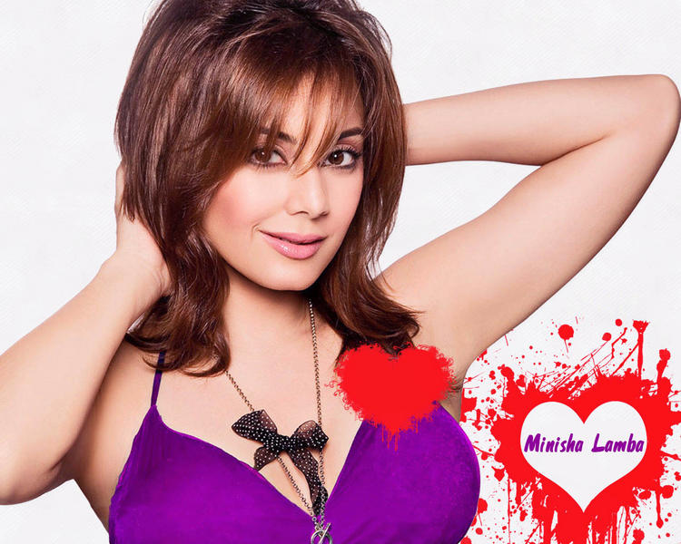 Minisha Lamba Sexy Look Heart Wallpaper