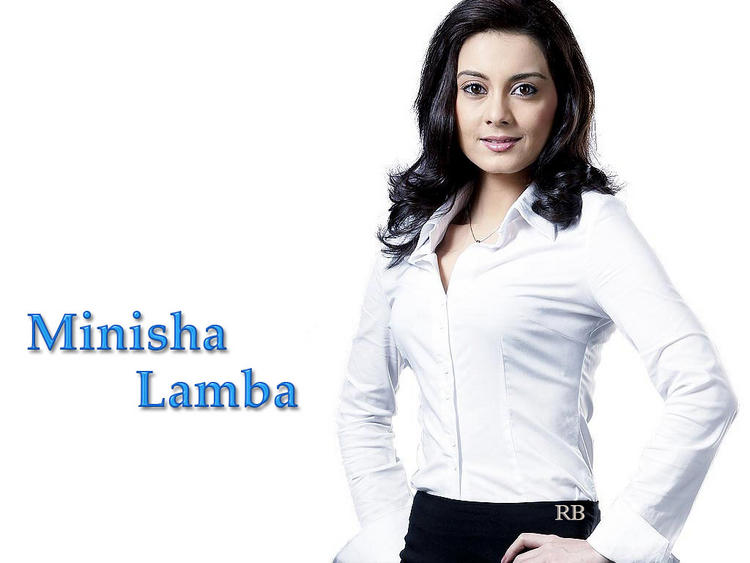 Minisha Lamba White Shirt Wallpaper