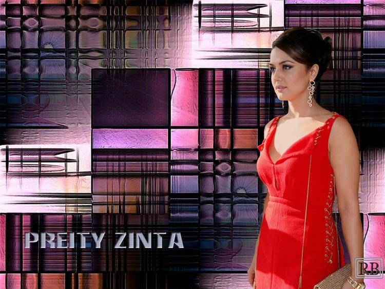 Hot Bolly Beauty Preity Zinta Wallpaper
