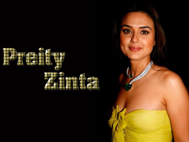 Preity Zinta Open Boob Show Wallpaper