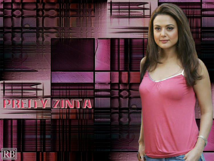 Preity Zinta Wallpaper With Pink Tops