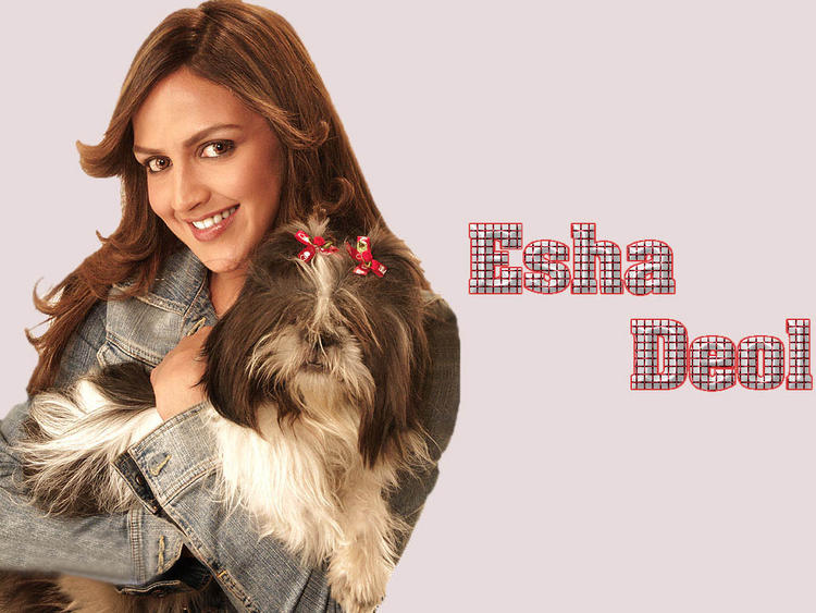 Esha Deol With Cute Dog