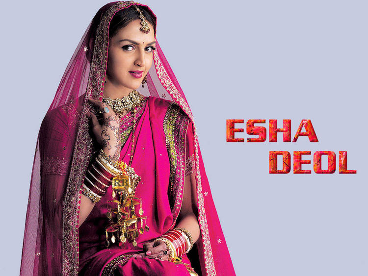 Esha Deol Indian Bride Dress Pic