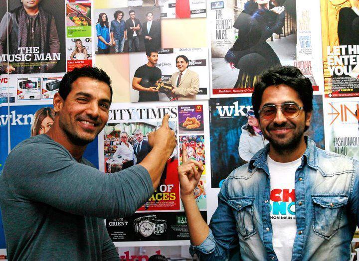 John Abraham and Ayushman Khurana at the Khaleej Times