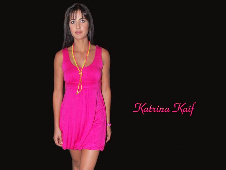 Katrina Kaif Cute Short Dress Wallpaper