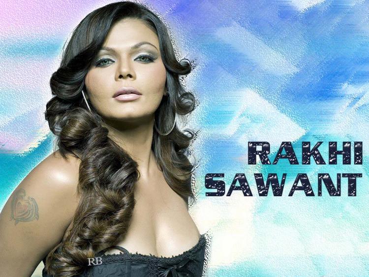 Rakhi Sawant Boob Show Shocking Wallpaper