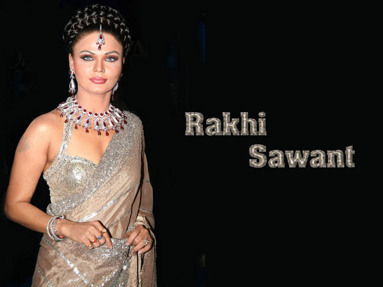 Rakhi Sawant Gorgeous Saree Hot Wallpaper