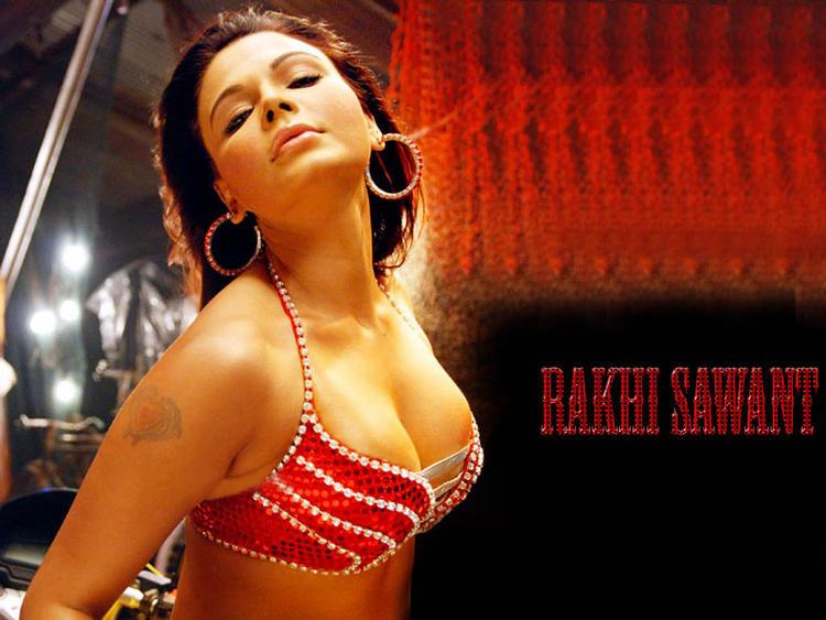 Rakhi Sawant Open Boob Show Shocking Wallpaper