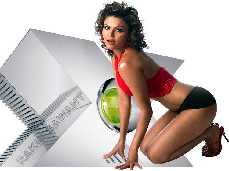 Rakhi Sawant Spicy Pose Wallpaper