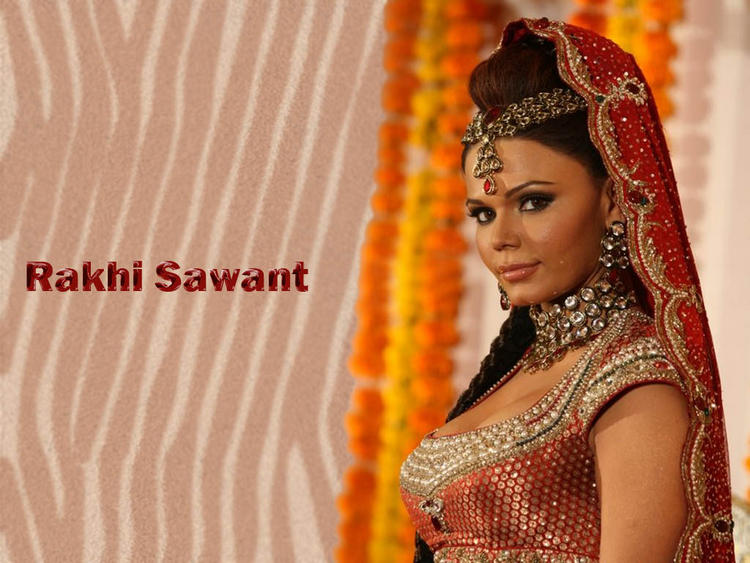 Rakhi Sawant Wedding Dress Wallpaper