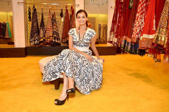 Dia Mirza Beautiful Dress Pic At Anita Dongre Store
