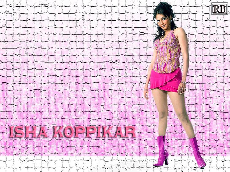 Isha Koppikar Mini Dress cute Wallpaper