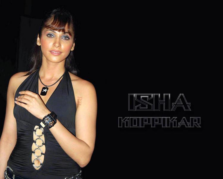 Isha Koppikar Nice Look Sexy Dress Wallpaper