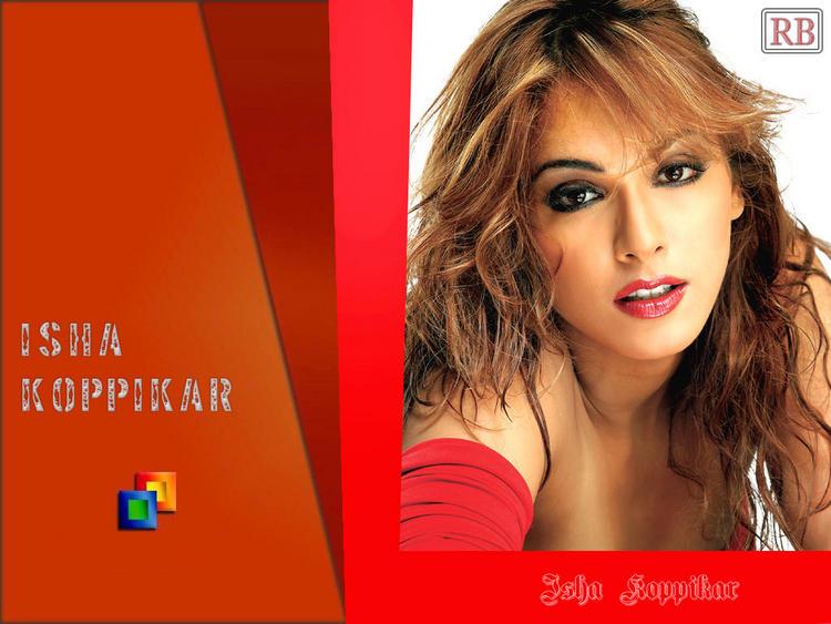 Isha Koppikar Red Lips Wallpaper