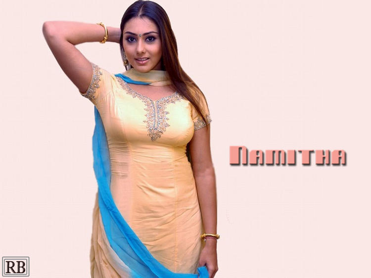 Chubby Actress Namitha Salwar Suit Pic