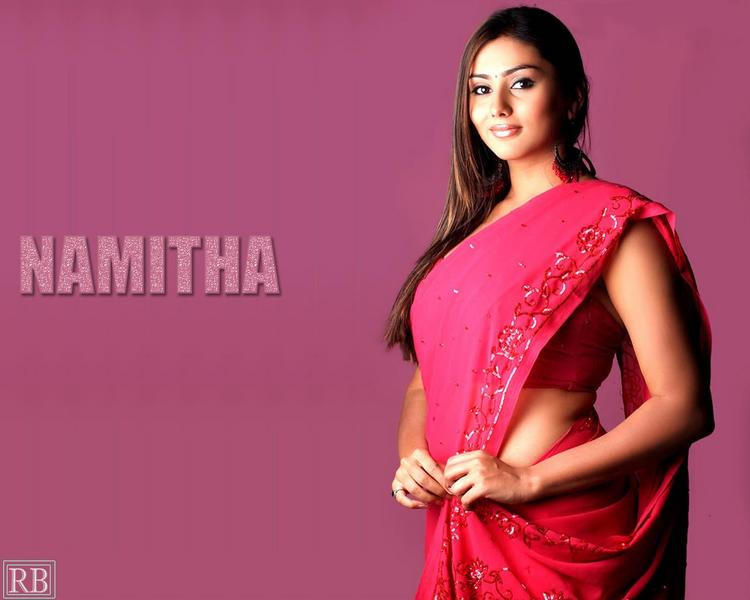 Hot  Babe Namitha In Saree