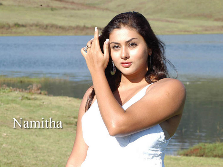 Namitha Awesome Beauty Face Wallpaper