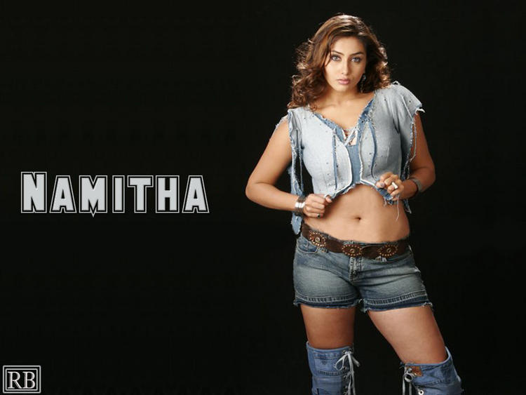 Namitha Mini Dress Hot Navel Show Wallpaper
