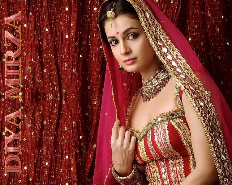 Diya Mirza Bridal Look Wallpaper