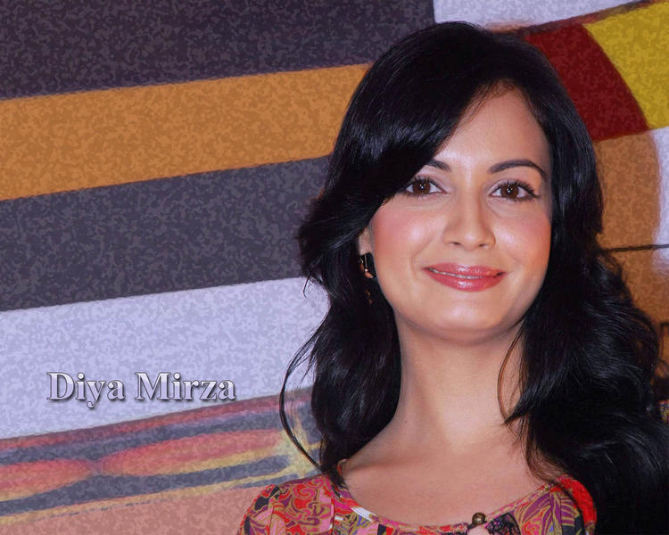 Diya Mirza Sweet Smile Face Wallpaper