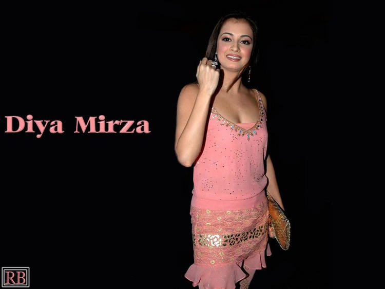Diya Mirza Wallpaper With Pink Mini Dress