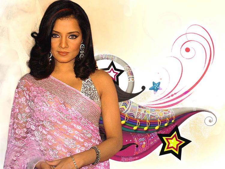 Celina Jaitley Gorgeous Saree Wallpaper