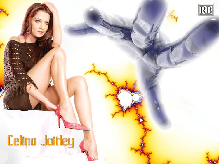 Celina Jaitley Milky Legs Pic Wallpaper