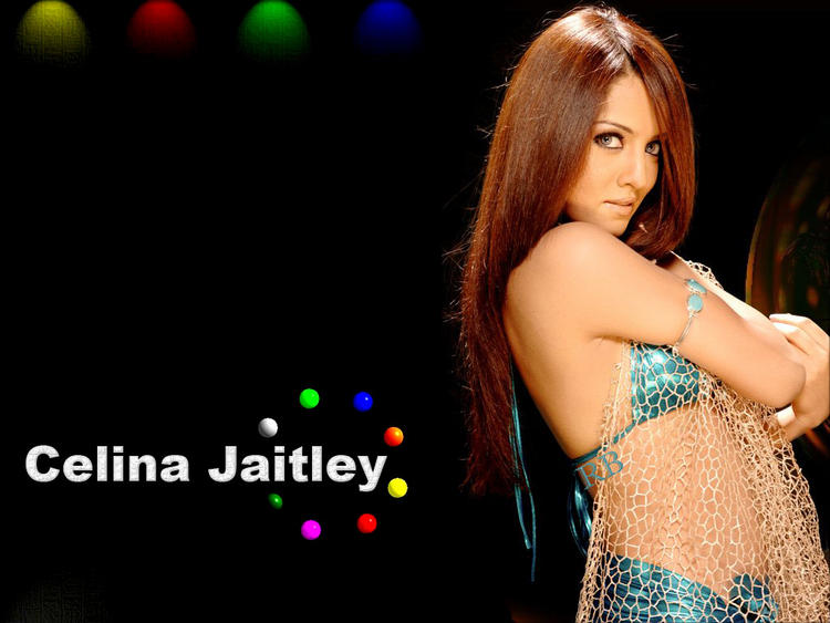 Celina Jaitley Red Hair Wallpaper