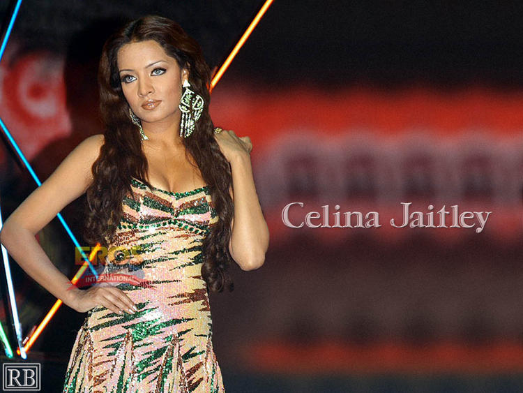 Celina Jaitley Sleeveless Dress Wallpaper