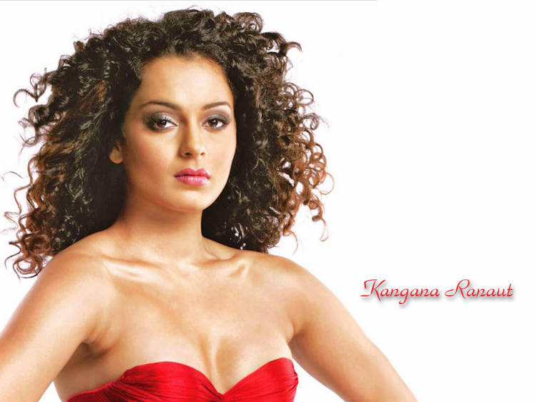 Curly Hair Beauty Kangana Ranaut Wallpaper