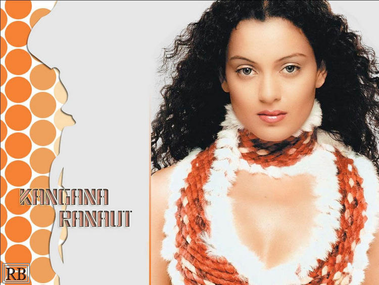 Kangana Ranaut Awesome Face Look Wallpaper