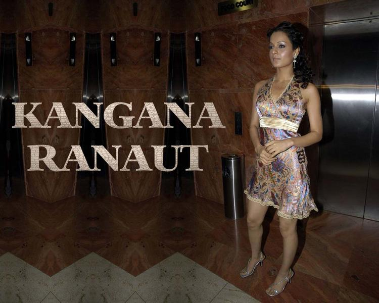 Kangana Ranaut Cute Mini Dress Wallpaper