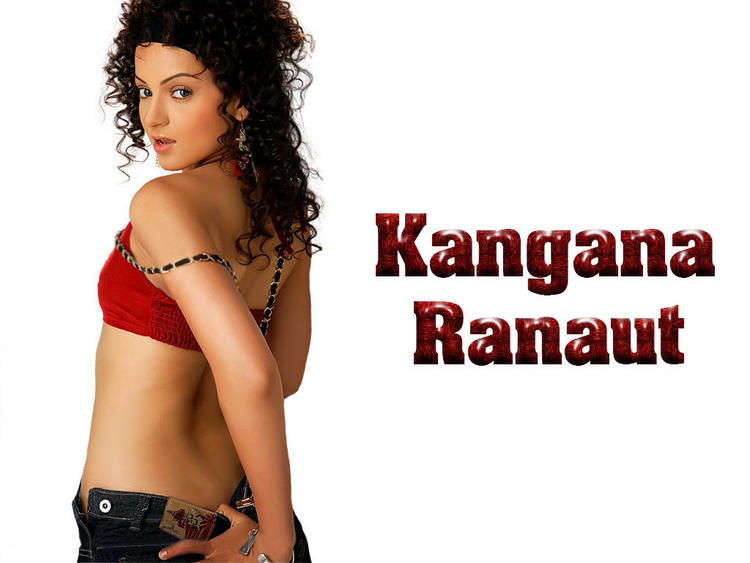 Kangana Ranaut Sexy Back Expose Wallpaper