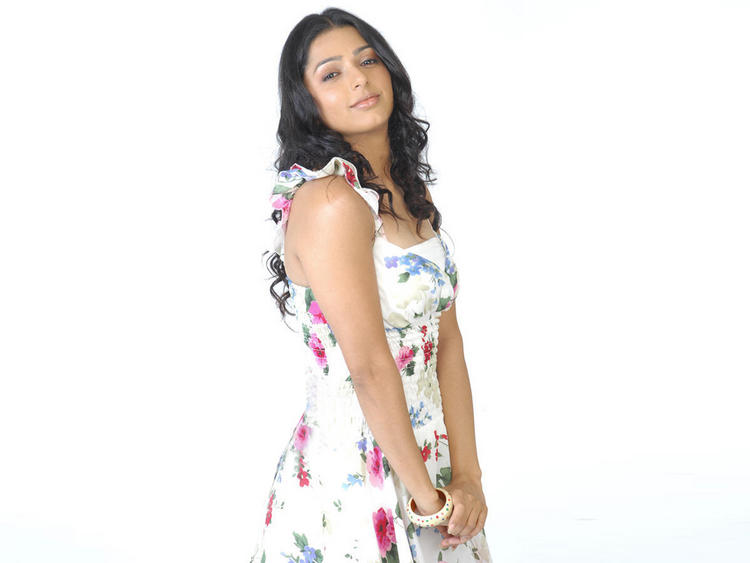 Bhumika Chawla Cute Dress Sexy Pose Photo Shoot