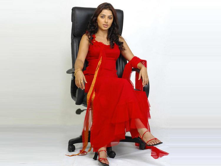 Bhumika Chawla Red Dress Sexy Photo Shoot