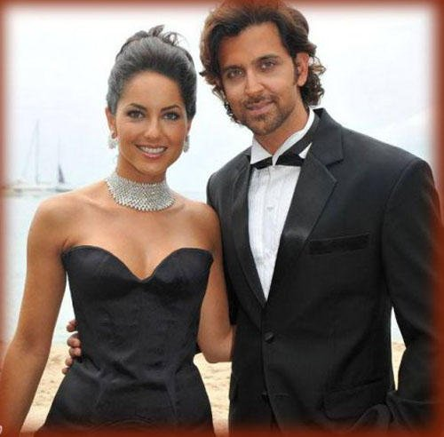 Hrithik Roshan With Barbara Mori