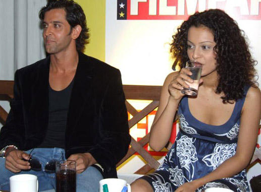 Hrithik Roshan With Curly Hair Beauty  Kangana Ranaut