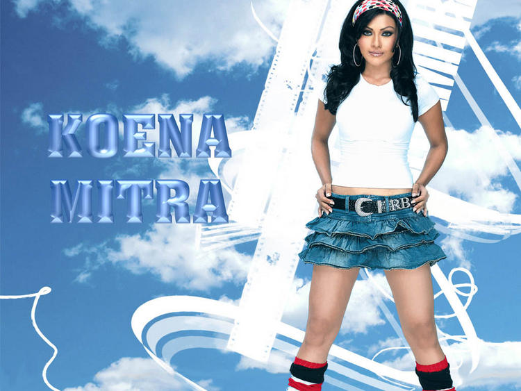 Koena Mitra Cute Mini Dress Wallpaper