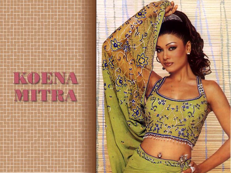 Koena Mitra Hot Navel Pic Wallpaper