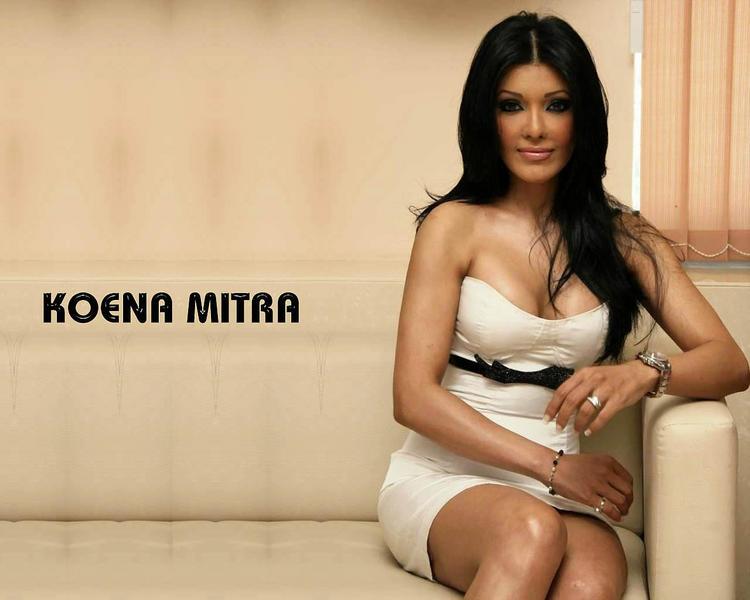 Koena Mitra Open Boob Wallpaper