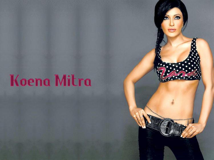Koena Mitra Spicy Navel Pose Wallpaper