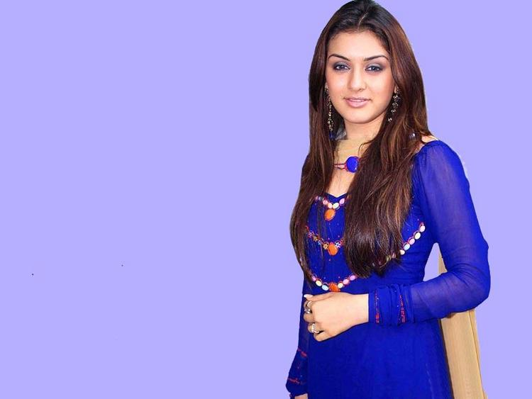 Hansika Motwani Blue Dress Wallpaper