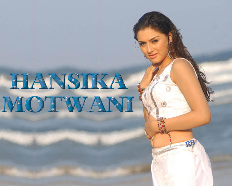 Hansika Motwani Hot Navel Pic Wallpaper