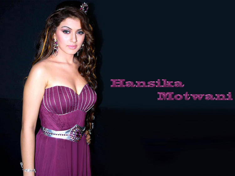 Hansika Motwani Sleeveless Dress Wallpaper